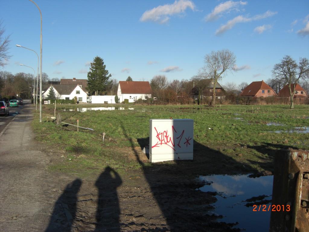 Sicht von Grundstück Nr. 1