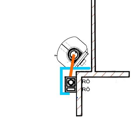 Rauchrohranschluss Zuluftrohranschluss zweizugiger Schornstein